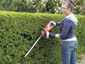 Using a Cordless Hedge Trimmer