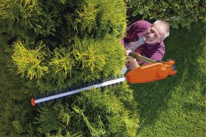 Using a Long Reach Hedge Trimmer